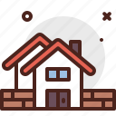 building, day, fence, labor, tools, work icon