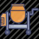 cement, construction, equipment, mixer, mixing, tool
