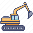 construction, device, dig, digging, equipment, tool, vehicle icon