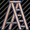 climb, construction, handiness, ladder, repair, tool