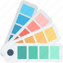 color catalogue, colors chart, colours palette, paint swatch, pantone icon