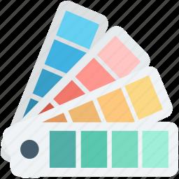 color catalogue, colors chart, colours palette, paint swatch, pantone icon