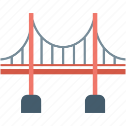 arch, architecture, bridge, gate, landmark icon