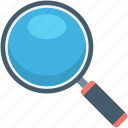 exploration, inspect, magnifying glass, search, vision icon