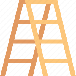 construction ladder, ladder, railing stair, stairs, steps icon