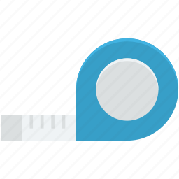 centimeters, distance tool, inches, roulette construction, tape measure icon