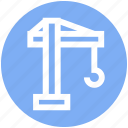 .svg, construction, construction machinery, crane, excavator, heavy machinery, lifter icon