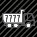 tipper, truck, dump, construction, industry, transportation, vehicle
