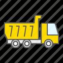 tipper, transportation, truck, construction, vehicle, industry, dump