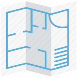 architecture, blueprint, construction map, document, file, house plan icon