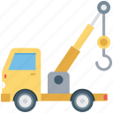 lifter, luggage lifter, tow truck, transport, vehicle