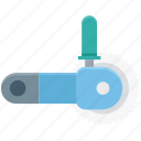 circular saw, cutting tool, power saw, power tool, saw blade icon