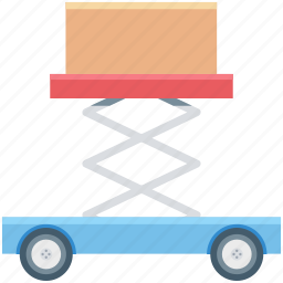 construction, crane vehicle, lifter, package lifter icon