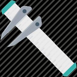 calipers, instrument, tool, vernier, vernier caliper icon