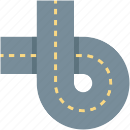 highway, road, road intersection, road sign, traffic sign icon