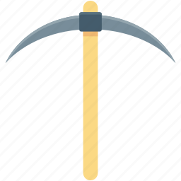 costumes accessories, grim tool, pickaxe, reaper, scythe tool icon