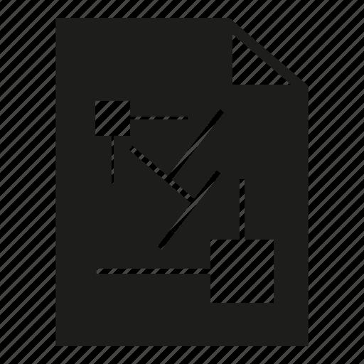 blueprint, design, document, dratf, paper icon