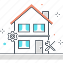 build, fix, house, property, renovate icon