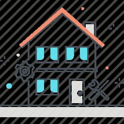 build, fix, house, property, renovate icon