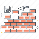 build, construction, firewll, wall icon