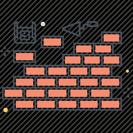 build, construction, firewll, wall icon