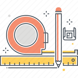 calculate, length, measure, meter icon