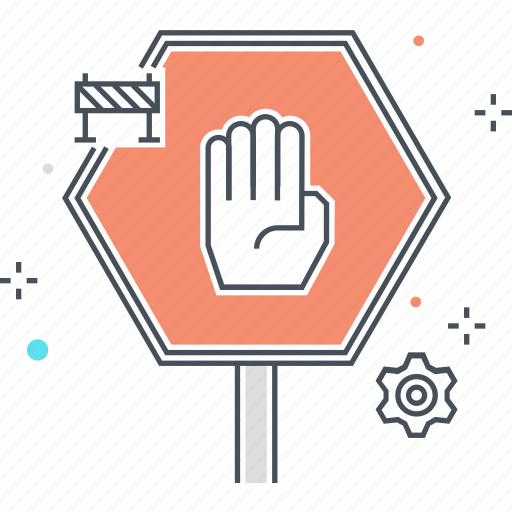 hand, road, safeth, stop icon