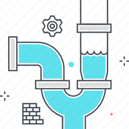 drain, fix, house, pipe, toilet, water icon