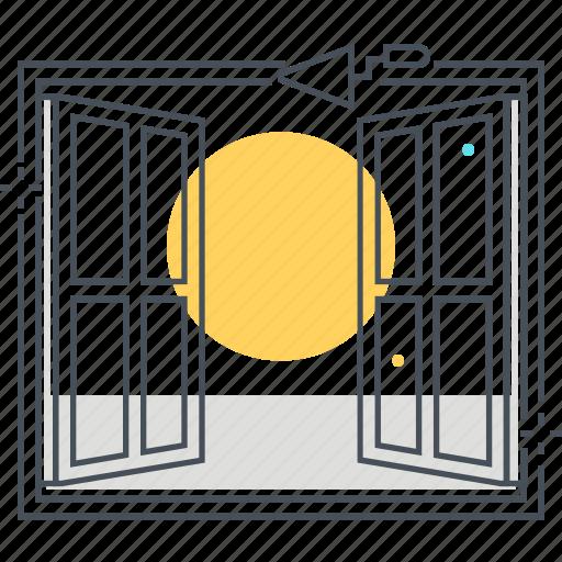 apartment, house, outside, renovate, sun, window icon