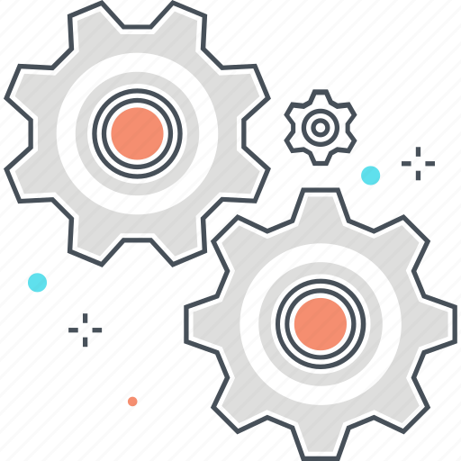 cog wheels, gears, machine, settings, work icon