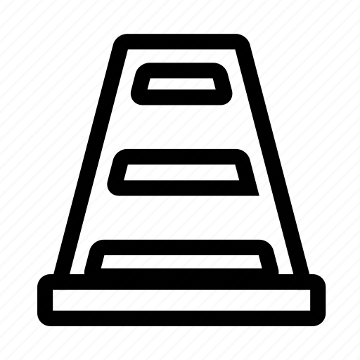 cone, construction, maintenance, traffic icon