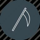 death, halloween, scythe, tool icon