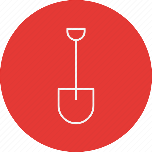shovel, showel, tool icon