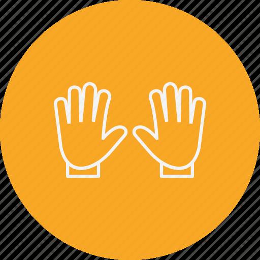 glove, gloves, hand icon