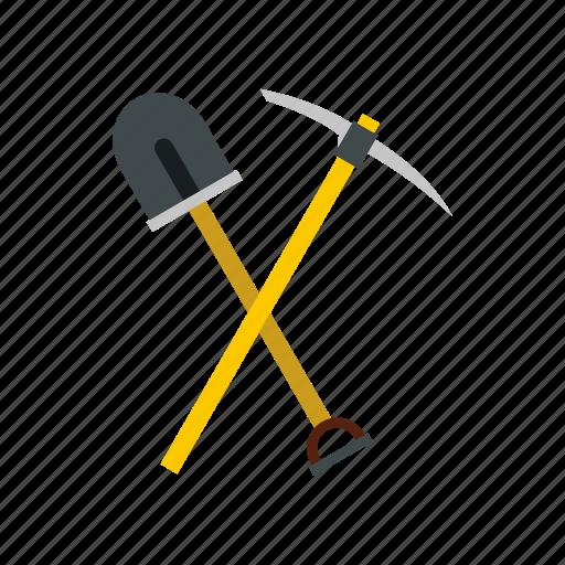 agriculture, equipment, garden, gardening, metal, pickaxe, shovel icon
