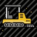 asphalt, construction, paver, vehicle