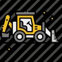 backhoe, construction, loader