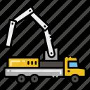 vehicle, pump, concrete, construction icon