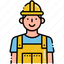 building, construction, worker icon