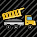 construction, dump, truck, vehicle