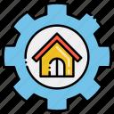 building, engineering, gear, house