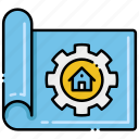 blueprint, construction, engineering, house