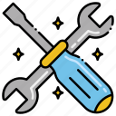 kit, construction, tool, essential icon