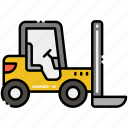 construction, forklift, vehicle icon