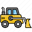 construction, front, loader, vehicle icon