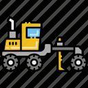 construction, grader, vehicle icon