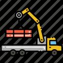 construction, manipulator, truck, vehicle icon