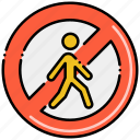 no, personnel, sign, unauthorized icon