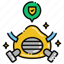 construction, mask, respirator, safety icon