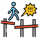 construction, danger, incomplete, scaffolding icon